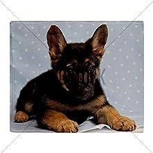 CafePress German Shepherd Puppy Throw Blanket - Standard Multi-color