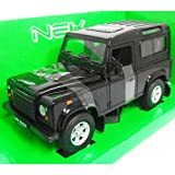 LAND ROVER Defender 90 Black 1/24 WELLY [並行輸入品]