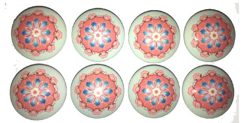 Set Of 8 Pink And Blue Brooklyn Dresser Drawer Knobs front-40602