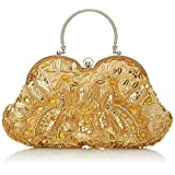 MG Collection Sarita Beaded Sequin Evening Bag