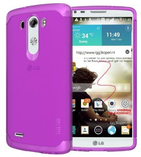 Tudia Ultra Slim Lite Tpu Bumper Protective Case For Lg G3 (2014) (Purple)