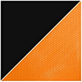 iPad Air 2 Case, Apple iPad Air 2 Smart Cover, rooCASE Origami Ultra Slim Fit Thin Lightweight SmartShell PU Leather Folio Case Magnetic Auto Sleep Wake - Support 3n1 Stand for iPad 6, Black / Orange