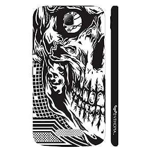Lenovo A2010 Skull 2 designer mobile hard shell case by Enthopia