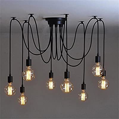 6 Lights Loft Style Vintage Retro Ceiling Lamps Fixtures Chandeliers Lighting without Bulb