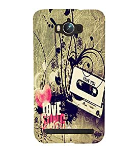 Love u music Back Case Cover for Asus Zenfone Max ZC550KL