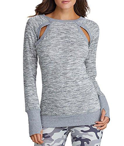 2(x)ist Cutout Sweatshirt, XL, Light Heather Grey