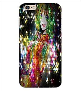 PrintDhaba Cute Girl D-2830 Back Case Cover for APPLE IPHONE 6S PLUS (Multi-Coloured)