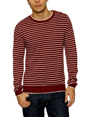 Selected Monthy Nap Split Crew Neck Men's Jumper Fired Brick Medium