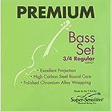 Super Sensitive 8907 Premium Bass String Set, 3/4