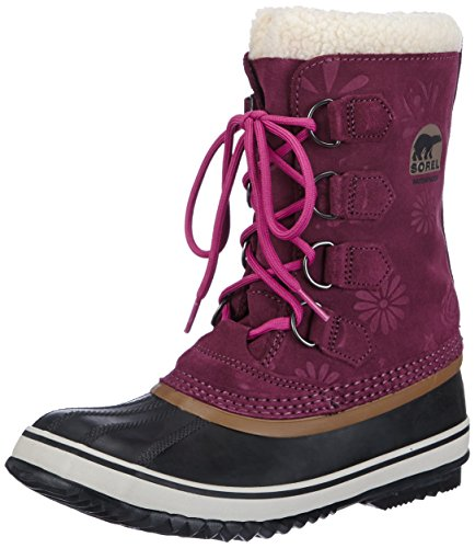 Sorel Women's 1964 PAC Graphic 13 Snow Boot,Vino/Grizzly Bear,12 M US