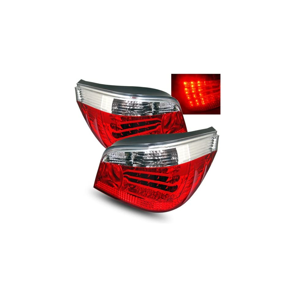 BMW 525xi 2006 2007 LED Tail Lights Red Clear (Fits Base Sedan 4 Door)