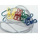 Flexible Wäscheleine mit 8 beschichteten Klammern, 190-240cm , iapyx®