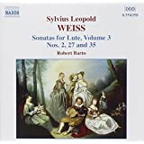 Weiss: Sonatas for Lute, Vol. 3/Robert Barto
