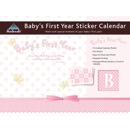 Baby's First Year (Girl) Undated Sticker Calendar 12