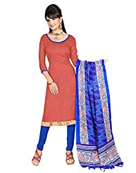 Yehii Women's Silk Pink Plain / Solid dress material Unstitched Salwar Kameez Dupatta for women party wear low price Below Sale Offer