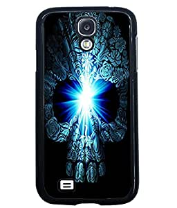 PRINTVISA Blue Skeleton Premium Metallic Insert Back Case Cover for Samsung Galaxy S4 - I9500 - D6041