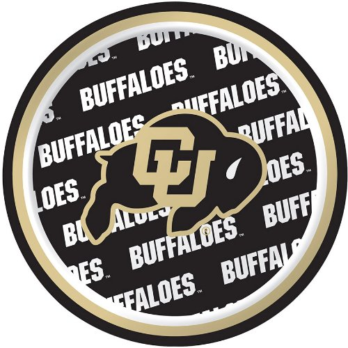 Creative Converting University of Colorado Buffaloes Dessert Paper Plates (8 Count)