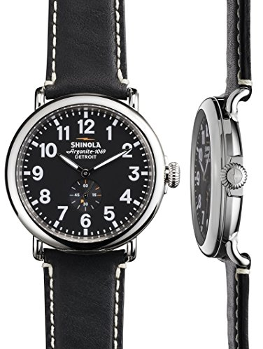 ロンハーマン(Ron Herman) SHINOLA The Runwell 47mm Black Face / Black Strap Watch BLACK/BLACK 1190164c1162 [並行輸入品]