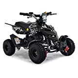 FunBikes Kids Mini Quad Bike 49cc 50cc Petrol Quad - Ride On ATV Midi (Black)