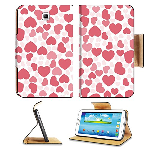 Samsung Galaxy Tab 3 7.0 Tablet Flip Case Background material wallpaper heart mark Heart pattern love Valentine s Day White IMAGE 36804435 by MSD Customized Premium Deluxe Pu Leather generation Access