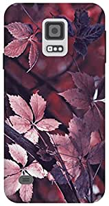 The Racoon Grip leafy autumn mauve hard plastic printed back case / cover for Samsung Galaxy S5