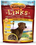 Zuke's Lil' Links Healthy Little Sausage Links for Dogs, Chicken & Apple Recipe, 6-Ounce