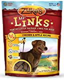 Zukes Lil Links Healthy Little Sausage Links for Dogs, Chicken & Apple Recipe, 6-Ounce