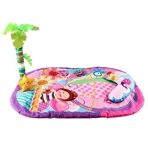 [Purposure Pink Children Play Mat With Included Palm Tree and Yellow Plush Star] (Animal That Starts With The Letter N)