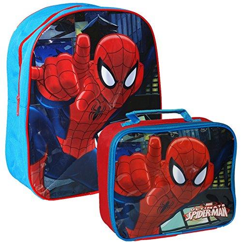 Ufficiale Marvel® Ultimate Spider-Man Spiderman Bambini Scuola Viaggio Borsa Zaino e Borsa Set