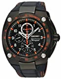 Seiko Men's SNAE37 Diver's Stainless Steel Black Chronograph Dial Watch thumbnail