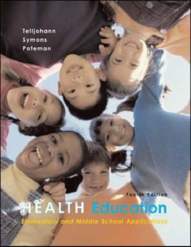 Health Education: Elementary and Middle School Applications with PowerWeb Bind-in Passcard