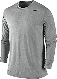 Nike Mens Legend Poly Long Sleeve Dri-Fit Training Shirt Game Royal Blue/Black 377780-063 Size Large