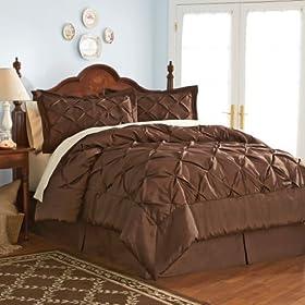 Cool Avenue Radiance Comforter Set Brown Queen Queen Bedding price