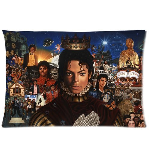 [At-Baby Custom Cartoon Painting Michael Jackson Home Decoration Custom Zippered Pillow Cases 20x26 (Twin] (Michael Jackson Decorations)