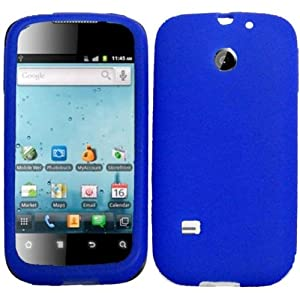 For T-Mobile Huawei Summit U8651S Silicone Jelly Skin Cover Case Blue Accessory