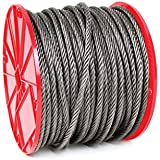 Koch Industries 019293 6 x 19 Wire Rope, Fiber Core 3/8-Inch by 500-Feet, 11-Inch Reel