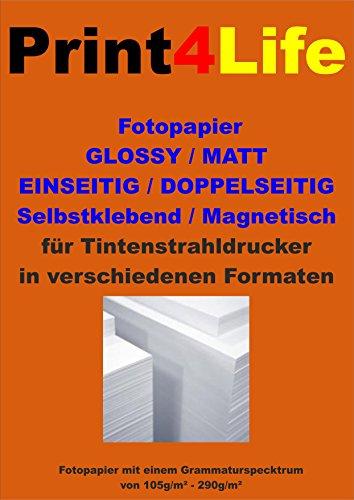 50 Blatt DIN A3 Fotopapier Matt 130g /m² beschichtetes Papier . Inkjet Premium matt gestrichenes Fotopapier für hochwertige einseitige Ausdrucke.