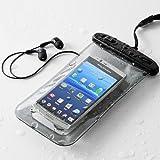 サンワダイレクト 防水ケース イヤホン付き iPhone Xperia Galaxy など各種 スマートフォン 対応 200-PDA044