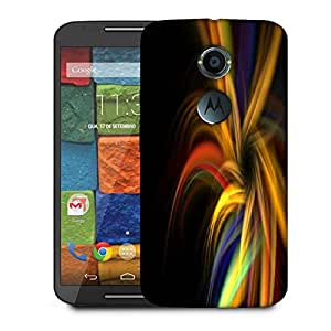Snoogg Abstract Colorful Pattern Designer Protective Phone Back Case Cover For Moto X 2nd Generation