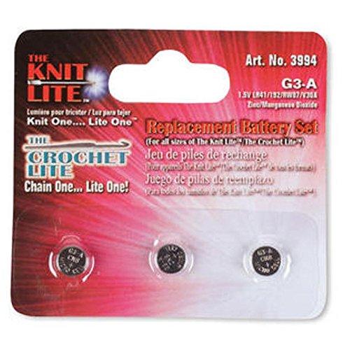 Set of 9 Crochet Lite Crochet Hooks Sizes C Through K 1 Pack Free Batteries