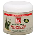Fantasia High Potency IC Hair Polisher Styling Gel, with Sparkle Lites, 16 oz.