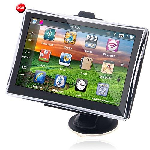 7 Pollici LCD TouchScreen Portatile GPS navigatore satellitare lettore multimediale Trasmettitore FM Con Europa Mappe