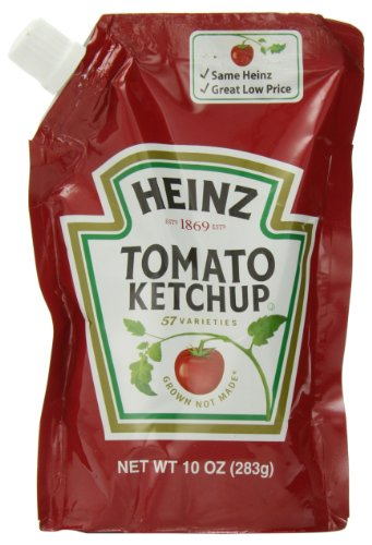 Heinz Tomato Ketchup, 10 Ounce Pouches (Pack Of 6) front-805385
