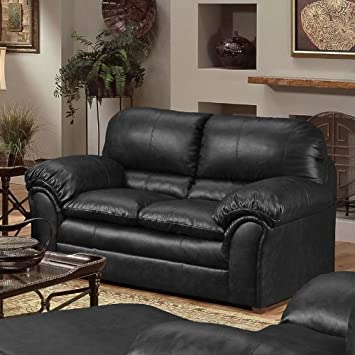 Simmons Upholstery 6152 Geneva Loveseat Onyx