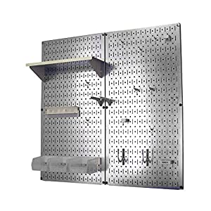 Wall Control 30-WGL-200 GVW Galvanized Steel Pegboard Tool Organizer, White