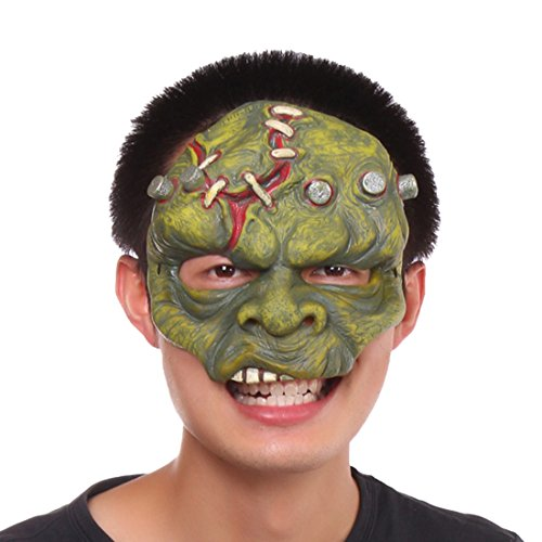 [Beautylife88 Half Face Mouth Mask Halloween Mask Head Mask Costume Party Mask #8] (Latex Devil Mask)