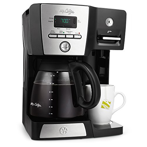 Mr. Coffee BVMC-DMX85 12-Cup Programmable Coffeemaker with Integrated Hot Water Dispenser, 16-Ounce, Black/Chrome (Mr Coffee Bvmc 12 Cup compare prices)