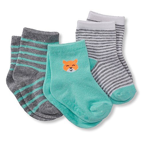 Carter S Baby Boys Carter S 3 Pack Baby Socks 0 3 Months Fox