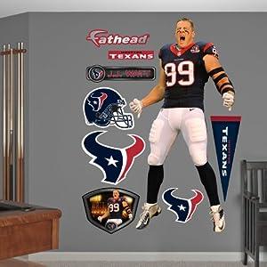 NFL Houston Texans J.J. Watt Entrance Wall Graphics by Fathead