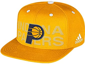 Adidas Indiana Pacers 2014 Official NBA Draft Cap - Yellow Navy by adidas